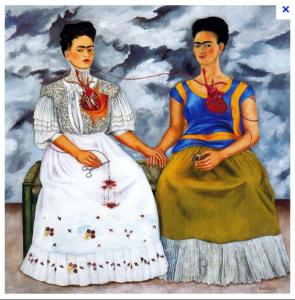 Frida Kalho una donna allo specchio